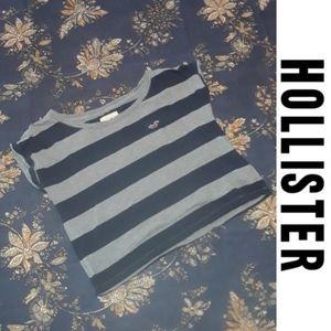 2/$15 Size M striped hollister crop top